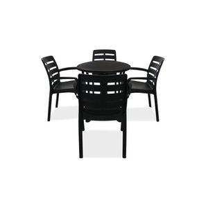 Table ronde salon de jardin plastique - Achat / Vente pas cher