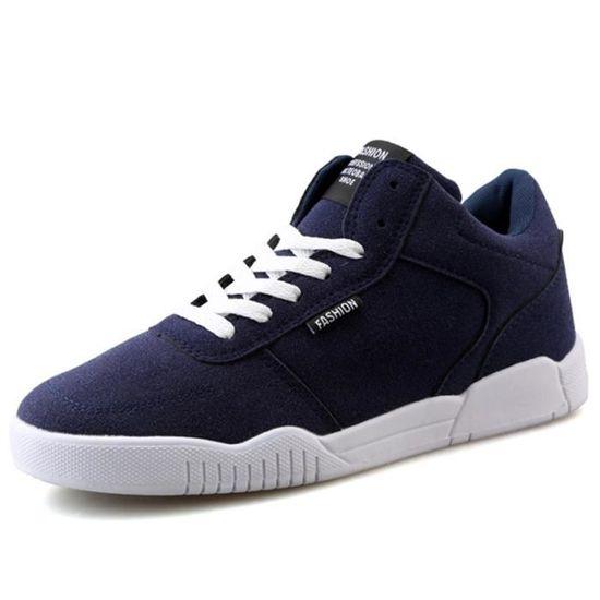 Chaussures De Sport Pour Hommes en daim Textile De Course Populaire LLT-XZ126Bleu42 Bleu Bleu - Achat / Vente basket