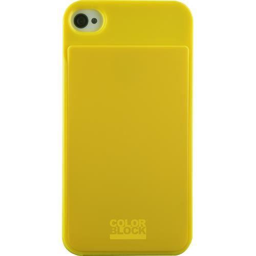 COLORBLOCK Coque porte carte Iphone 4 / 4S -  Jaune