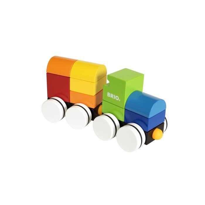 BRIO - 30245 - Train Empilable Magnetique - Jouet en bois