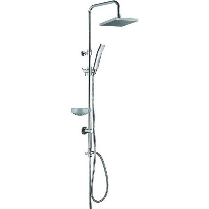 ESSEBAGNO Colonne de douche sans robinet New constellation - Chromé