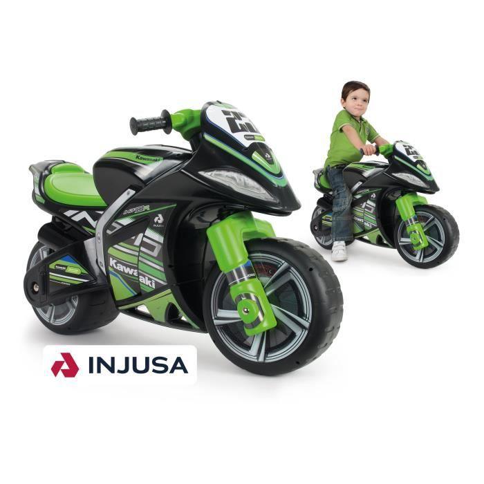 INJUSA Porteur moto enfant noir et vert Foot