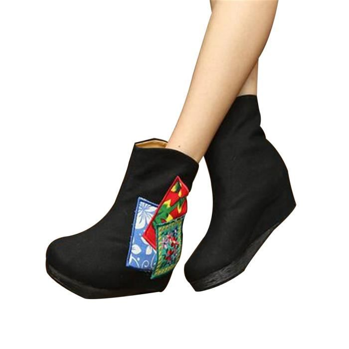 Chinois Chaussures Brodé Bottes Simples Chaussures Style Ascenseur Nationales Bottes Hautes Ii2X0MRl3r