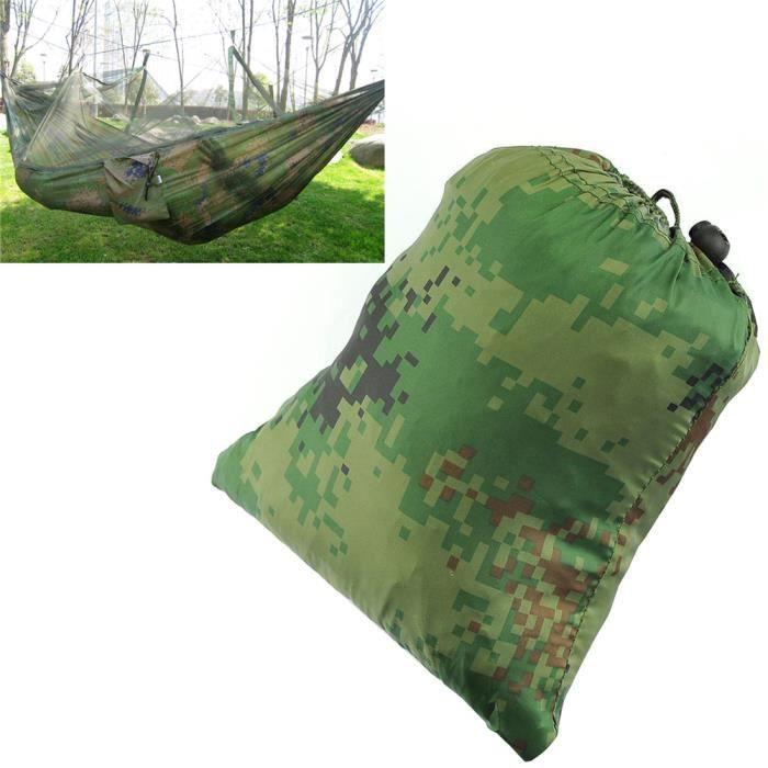 Hamac Suspendu Lit Camping Tente Avec Moustiquaire Pour Extérieur Jardin  Jungle