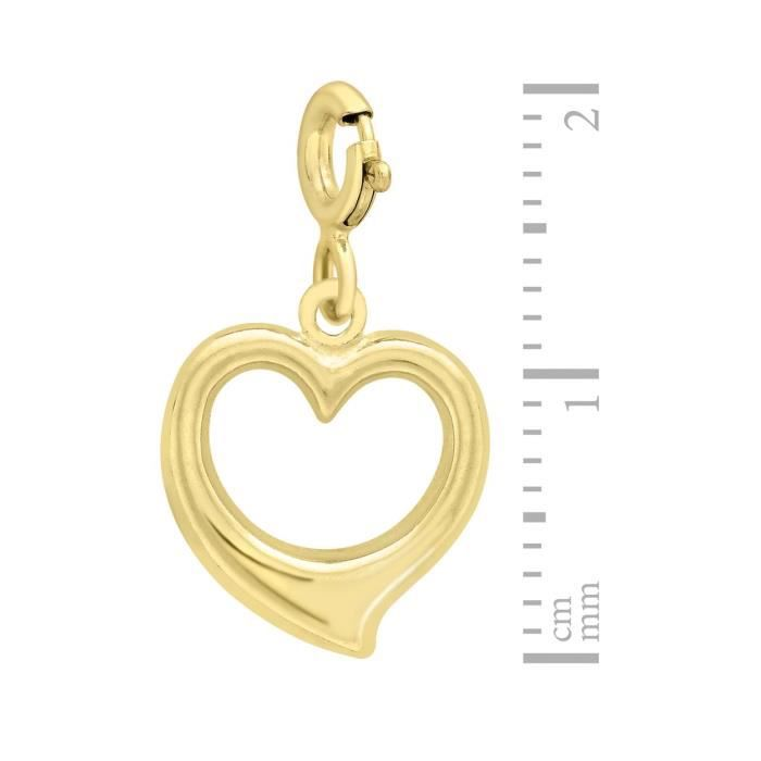 Charms - Femme - Coeur - Or Jaune 375-1000 (9 Cts) 0.41 Gr IE82C