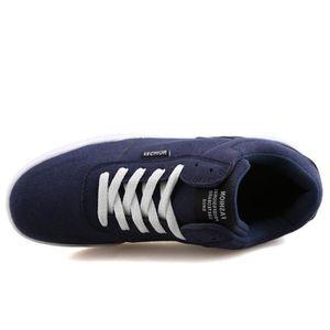 Chaussures De Sport Pour Hommes en daim Textile De Course Populaire LLT-XZ126Bleu42 OhV7P2qvf7