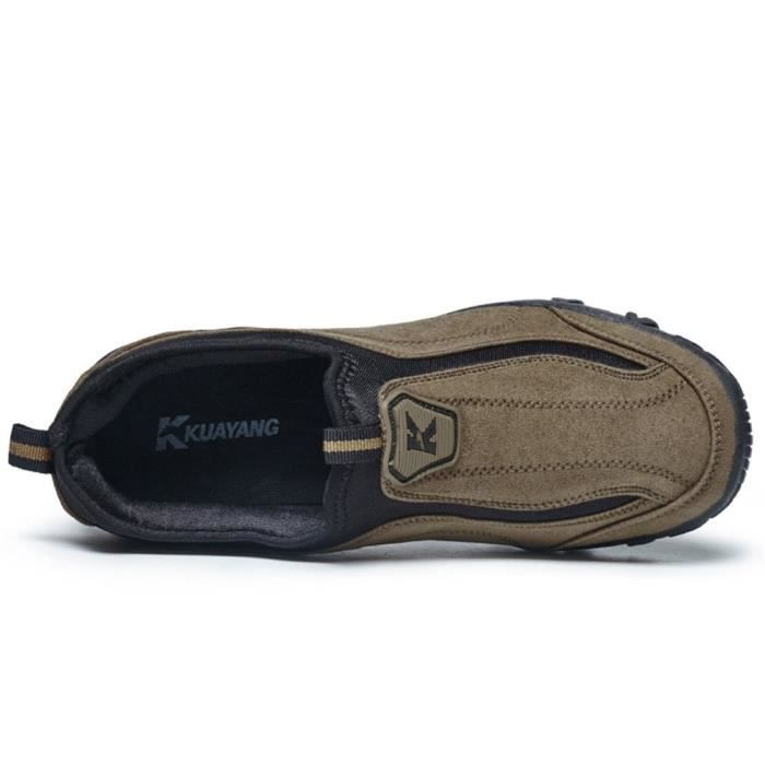 Casual Light Weight Suede Outdoor Non-slip Elderly Walking Sneaker Shoes DJWM8 Taille-39 1-2