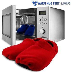 ACCESSOIRE CHAUFFANT Paire chaussons chauffants micro-ondes rouge zen r