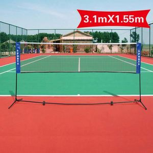 FILET DE BADMINTON Filet de mini-badminton tennis volley-ball avec pi