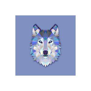 TABLEAU - TOILE Tableau Animaux Loup Bleu 50X50