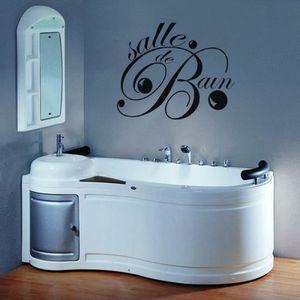 Stickers salle de bains achat vente pas cher - Stickers pour carreaux salle de bain ...
