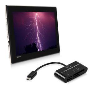 CÂBLE TÉLÉPHONE kwmobile 3in1 adaptateur Micro USB lecteur de cart
