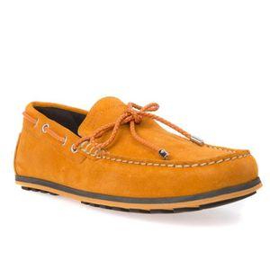 MOCASSIN Géox Mocassins Homme Orange Nubuck (44 - orange)