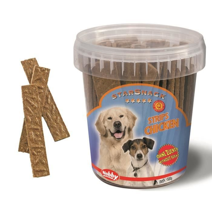 NOBBY Snack Seau Strips au poulet 500g - Pour chien