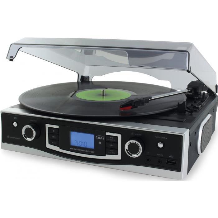 SOUNDMASTER PL525 Mini-chaîne avec radio FM PLL, USB et encodage - Noir