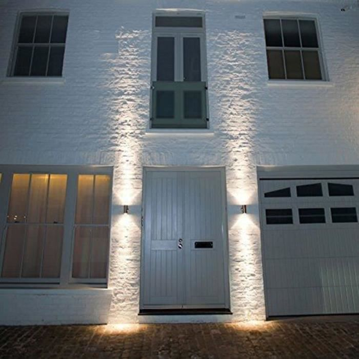 Applique murale double clairage haut et bas ext rieur for Eclairage exterieur maison