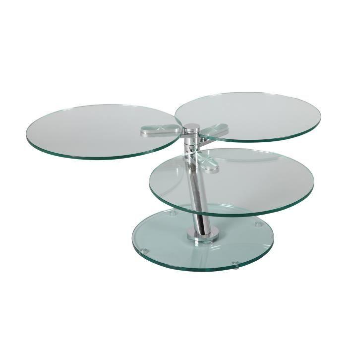 table basse ronde en verre pas cher. Black Bedroom Furniture Sets. Home Design Ideas