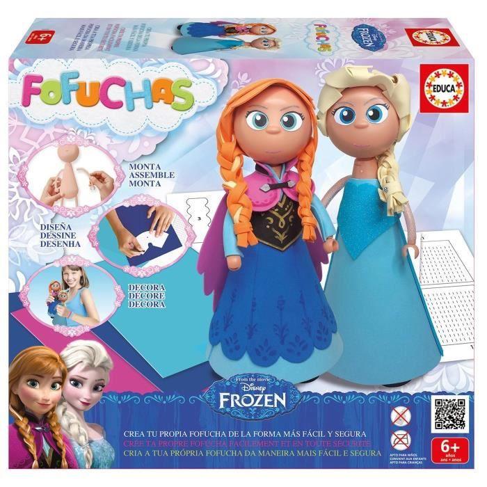 LA REINE DES NEIGES Loisirs Créatifs Fofuchas Poupées Anna et Elsa à Créer 94bd85a5b22f