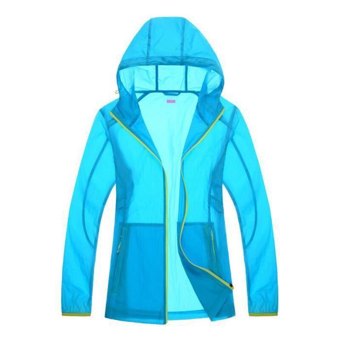 regarder 404c0 381e3 Femme vêtements de protection Gucci ultra - léger avec capuchon perméable à  l'air-bleu