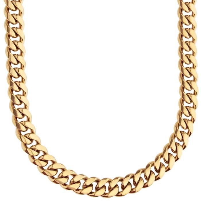Iced Out Bling Urban Curb Collier - 8mm gold