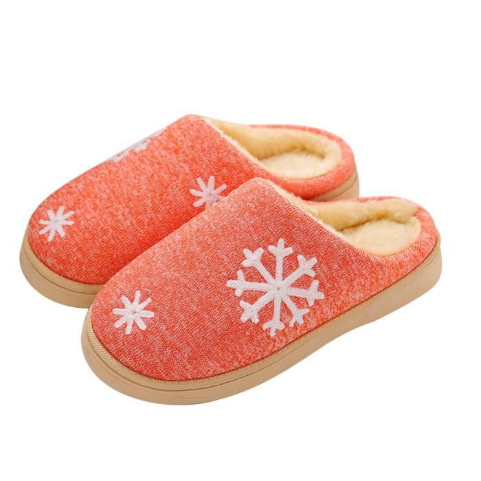 De Chaudes Faux Hiver Pantoufles Napoulen®femmes Chaussures Maison Orange sdm70912256or En Fourrure qCwtZtd