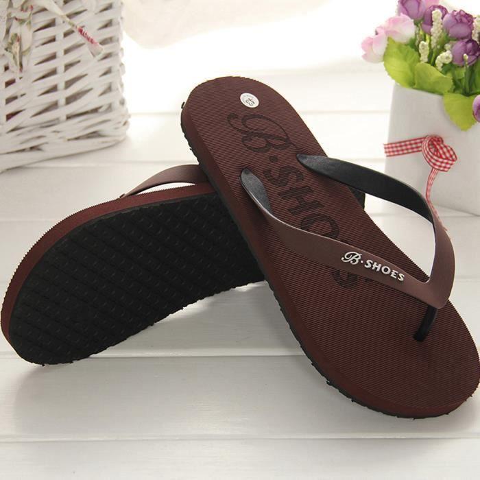 Ou Intérieur Extérieur D'été Homme Hommes Chaussures Flops Marron Sandales Slipper Flip 5j4LAR