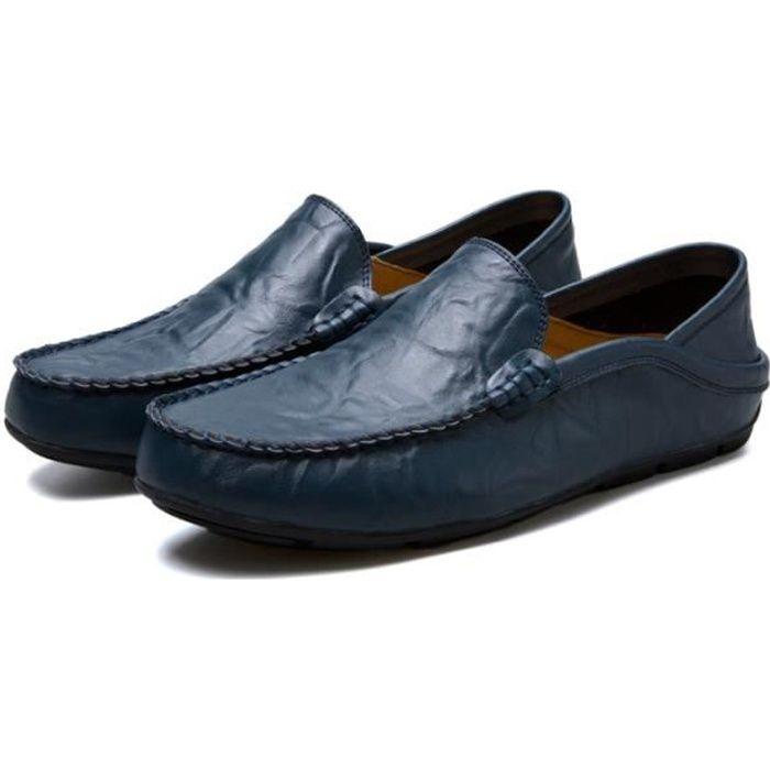 6ea985cd9fec Chaussures homme femme En Cuir Moccasin Marque De Luxe Super ...