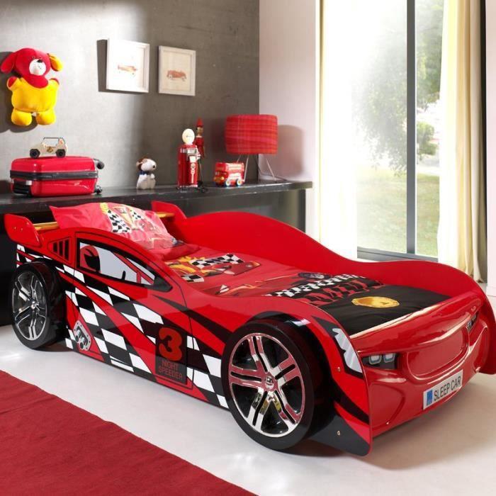 paris prix lit enfant voiture night speeder rouge. Black Bedroom Furniture Sets. Home Design Ideas