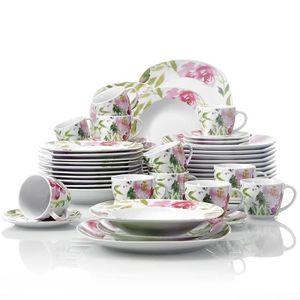 service vaisselle porcelaine achat vente pas cher. Black Bedroom Furniture Sets. Home Design Ideas