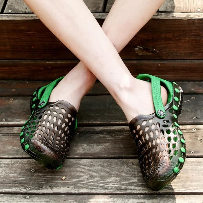 Daily Doux Summer Casual Cold Youth Taille10 Sandale Vert Cozy Étanches Flats Homme wYSnxI