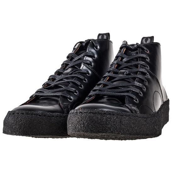 Fred Perry X George Cox Creeper Mid Mixte Baskets Noir - 7 UK 6CXaIDu8v