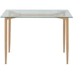 Table salle a manger en verre achat vente table salle - Table a manger transparente ...