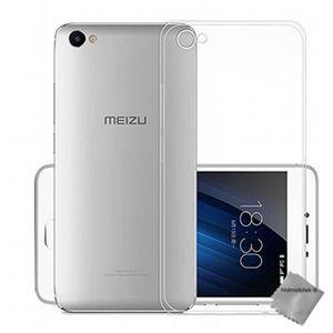 COQUE - BUMPER Coque silicone gel fine pour Meizu U20 + verre tre