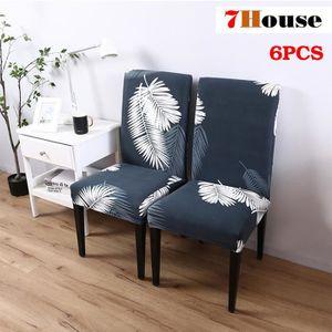 Gris Blanc Pour 6 7house® Plume De Housse Revêtement Chaise Pièces WEYDIH29