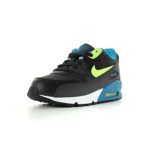 chaussures de séparation 2fb6f c6e6b Nike - Air Max 90 (ps) Noir Noir, bleu et jaune fluo - Achat ...