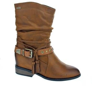 Bottines   boots 1279-501 femme mustang 1279-501 Blanc Blanc - Achat ... f90e77caed44