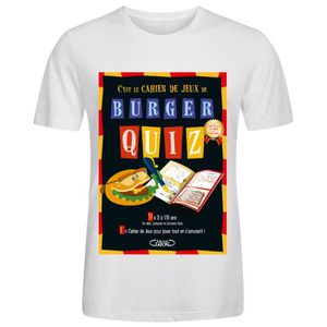 CHEMISE DE SPORT Homme Burger quiz Tee Shirts - Blouse Coton T shir