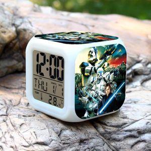 HORLOGE - PENDULE 1 PCS Star War couleur d'alarme Pour changer l'hor