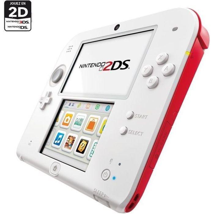 2ds blanche et rouge achat vente console 2ds console 2ds blanche et rouge cdiscount - Console 3ds xl blanche avec mario kart 7 ...
