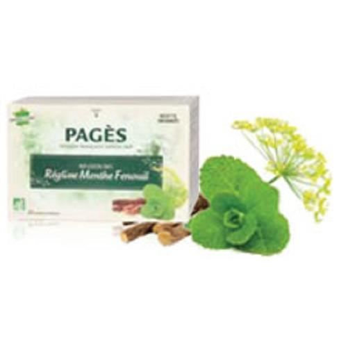 PAGES Infusion Reglisse Menthe Fenouil Bio