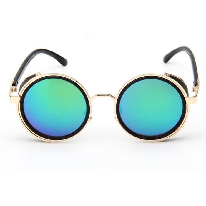 LJL70316132D@Femmes Hommes Mode Vintage Retro Lunettes Unisexe Mode Aviator Mirror Lens Travel Lunettes de soleil