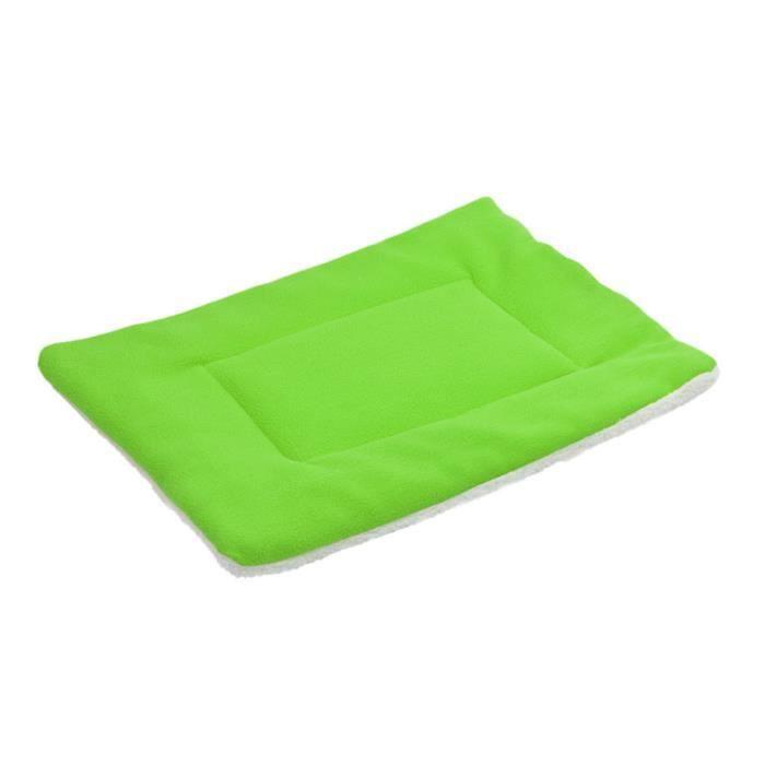 Mosakog® Dog Pet Blanket Toison Coussin Chien Lit Pour Chat Doux Sommeil Chaud Tapis Vert_poi194