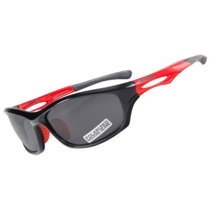 e2fa9945faee15 Queshark Lunettes de soleil sport polarisées pour hommes femmes TR90 cadre  incassable pour le cyclisme de baseball course de pêche