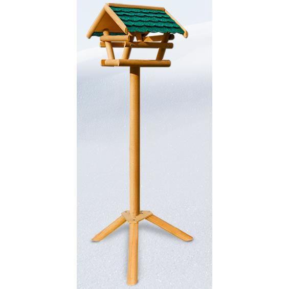 mangeoire pour oiseaux cabane abri sur pied toit imitation tuile achat vente nichoir. Black Bedroom Furniture Sets. Home Design Ideas
