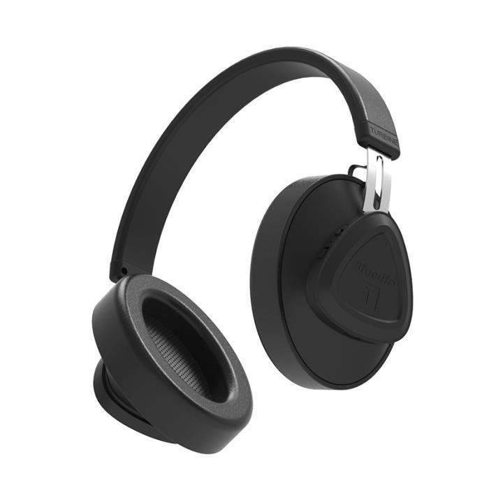 Bluedio Tms Bluetooth Stéréo Casque Sans Fil, 5.0 Sound Control Portable Avec Micro Pour Téléphones Et Musique (noir)