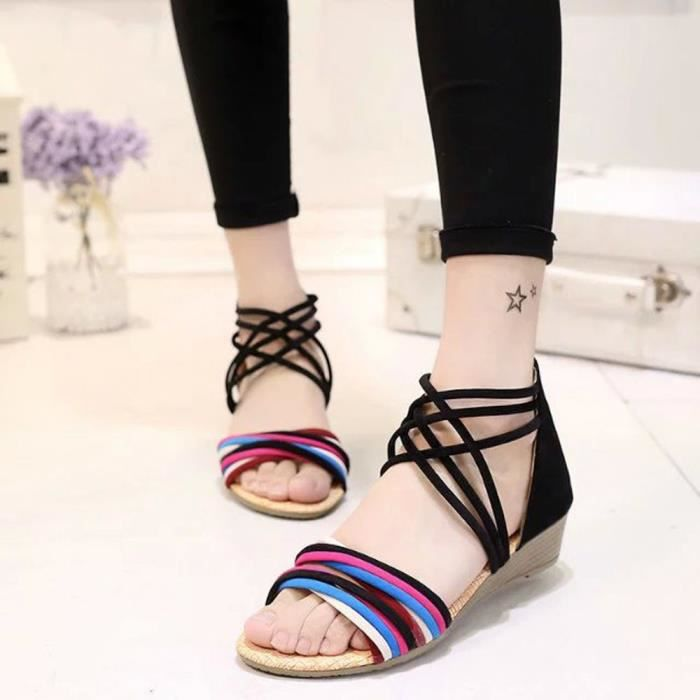 Slip Noir En Pointed Casual Flat Toe Loafers Lady Sur Zly70221781bk Chaussures Femmes Cuir IwqB6w
