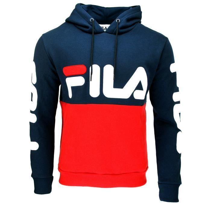 mode la plus désirable bien pourtant pas vulgaire SWEAT CAPUCHE FILA HOMME BLEU - Achat / Vente sweatshirt ...