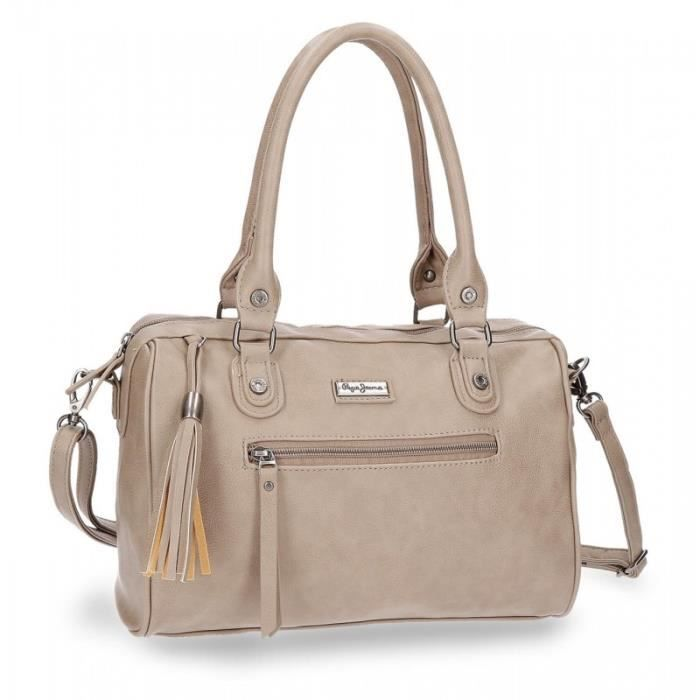 Taupe Croc Anses Collection Bowling À 30 Pepe Jeans Achat 2 Bag AR34q5Lj