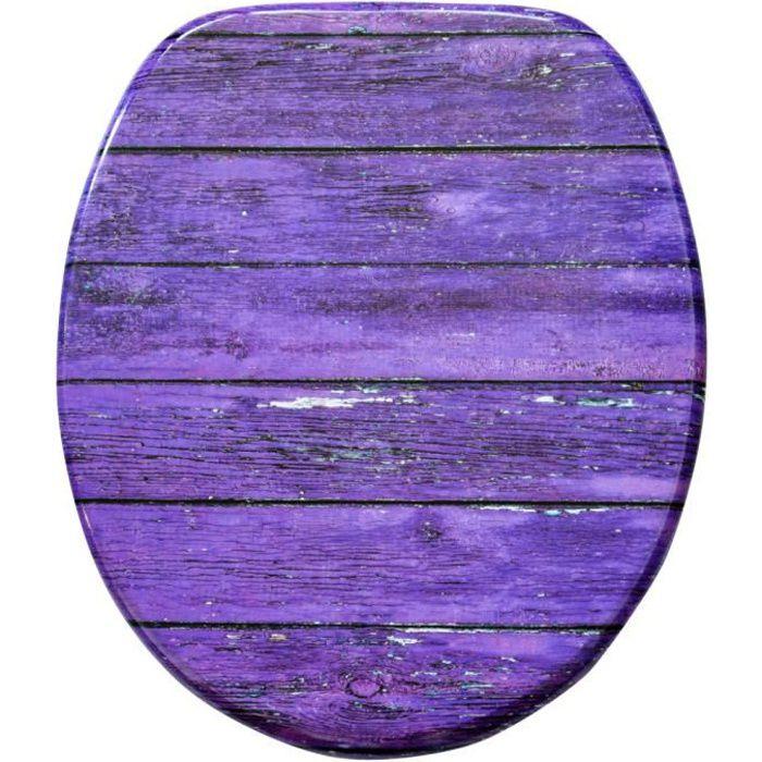 ABATTANT WC Abattant WC frein de chute soft close Mur violet -