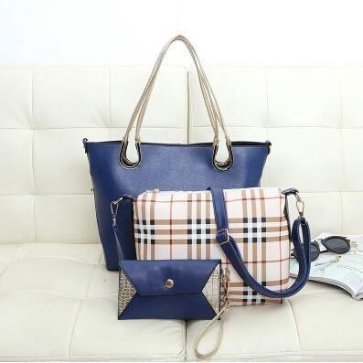 Tote VioletEurope & amp; Amérique du style de mode en cuir pour femme trois pièces composite Totes main 5 couleurs no.7431